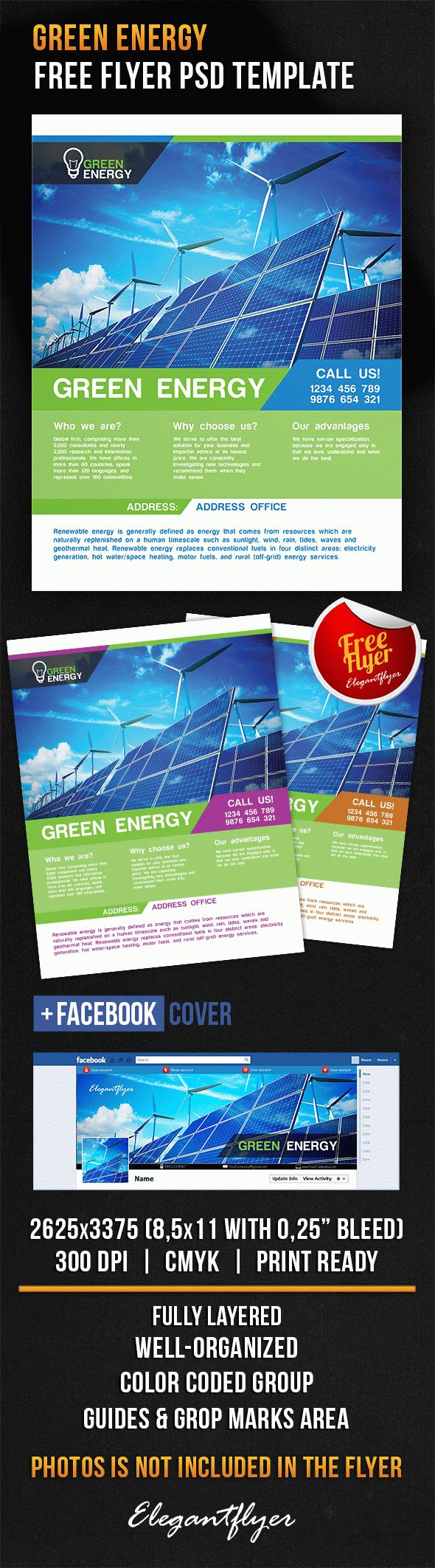 Green Energy – Free Flyer PSD Template