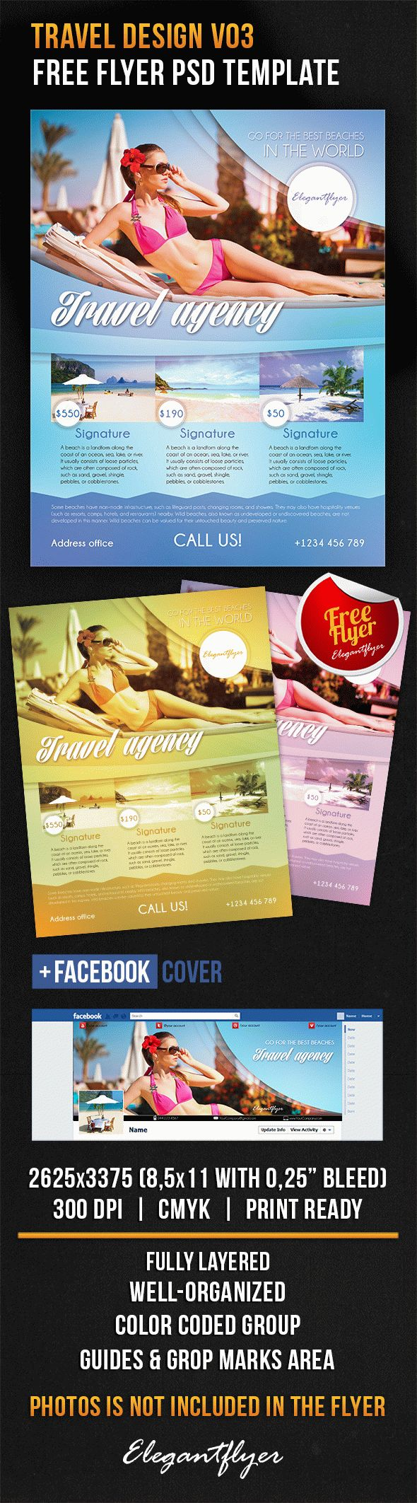 Travel Design V03 – Free Flyer PSD Template