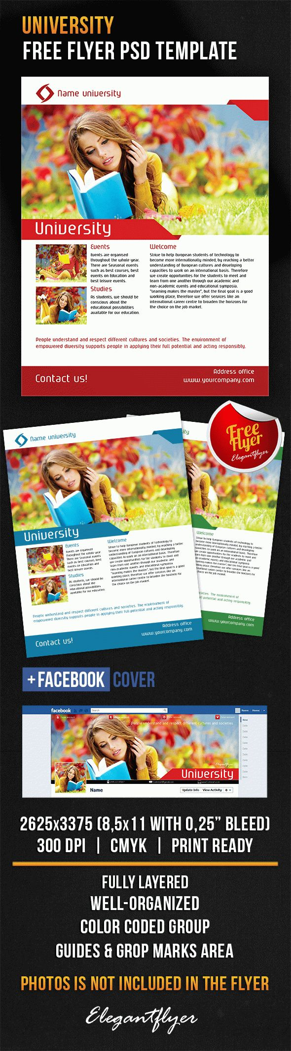 University – Free Flyer PSD Template