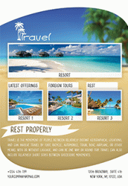 Travel – Free Flyer PSD Template + Facebook Cover