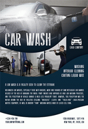 Car Wash – Free Flyer PSD Template + Facebook Cover