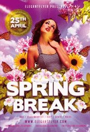 Spring Break Party – PSD Flyer Templates