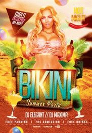 Bikini Party – PSD Flyer Templates