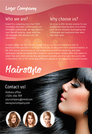Hair Salon – Free Flyer PSD Template + Facebook Cover