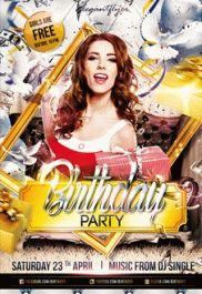 Anna Birthday Party – Premium Club flyer PSD Template