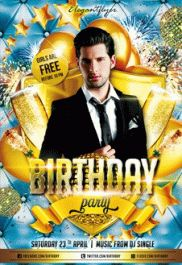 Birthday Party_4 – Flyer PSD Template