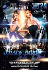 Disco party – Flyer PSD Template