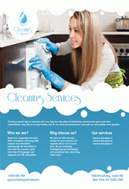 Cleaning Services – Free Flyer PSD Template