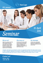 Business Seminar – Free Flyer PSD Template