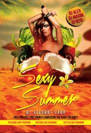 Sexy Summer Party – PSD Flyer Templates