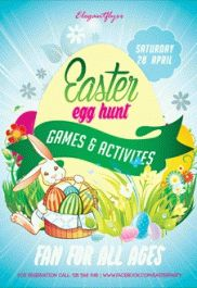 Easter egg hunt – Flyer PSD Template