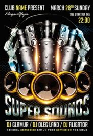 Super Sounds – Flyer PSD Template