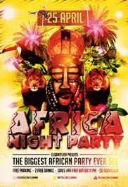 Africa Night Party – PSD Flyer Templates