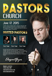 Pastors church – Flyer PSD Template