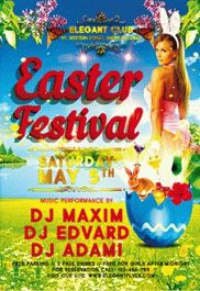 Easter Festival – PSD Flyer Templates