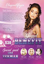 Gospel Benefit Concert – Flyer PSD Template