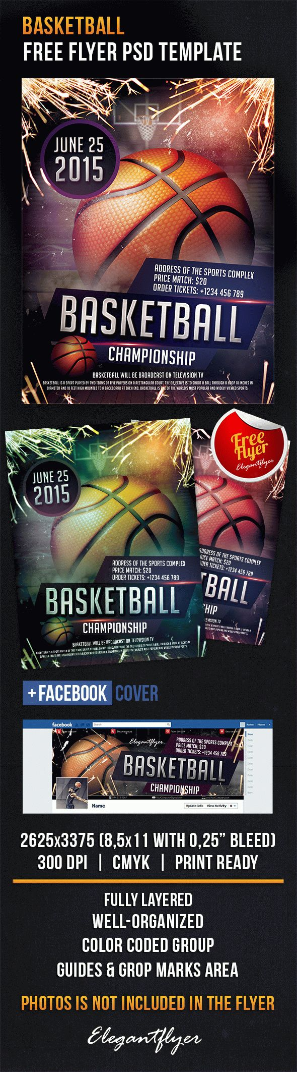 Basketball – Free Flyer PSD Template