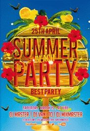 Summer Beach Party – PSD Flyer Templates
