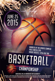 Basketball Madness – Premium Club flyer PSD Template