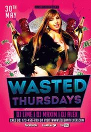 Wasted Thursdays – Free Flyer PSD Template
