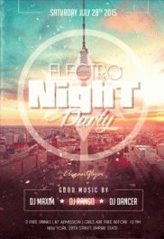 Party Special Night – Flyer PSD Template + Facebook Cover