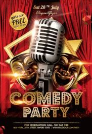 Comedy Party – PSD Flyer Templates