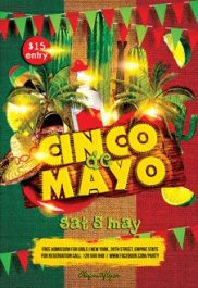 Cinco De Mayo 2 – Flyer PSD Template + Facebook Cover
