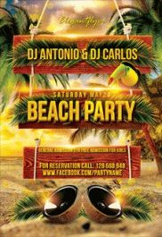 Club Flyer for Beach Party