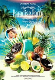 Tropical Party – Free Flyer PSD Template