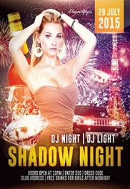 Shadow Night – Free Flyer PSD Template