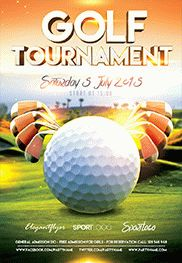 Golf Tournament Event – Flyer PSD Template