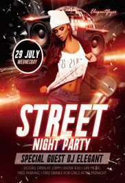 Street Night Party – Flyer PSD Template