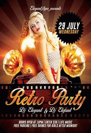 Free Retro Theme Party Flyer
