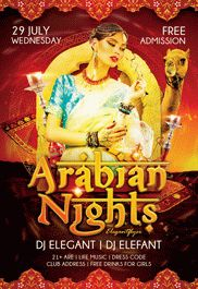 Arabian Nights – Flyer PSD Template + Facebook Cover