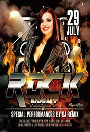 Rock Night – Flyer PSD Template