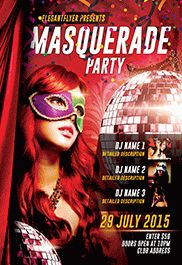 masquerade free flyer psd template by elegantflyer