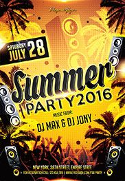 Summer Time V02 – Flyer PSD Template