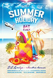 Summer Beach Party Design V02 – Flyer PSD Template + Facebook Cover