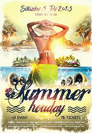 Flyer Template for Summer Surfing