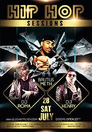 Hiphop Nights – Flyer PSD Template + Facebook Cover