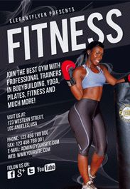 Health and Fitness Center – Flyer PSD Template + Facebook Cover