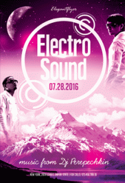 Electro Sound -Flyer PSD Template