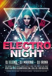 Electro Night – Premium Club flyer PSD Template