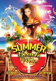 Beach Season – Flyer PSD Template + Facebook Cover
