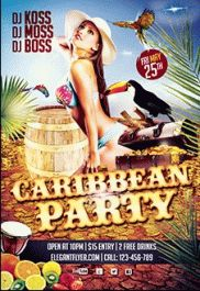 Caribbean Party – Premium Club flyer PSD Template