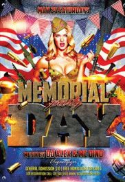 Memorial Day Celebration – Flyer PSD Template + Facebook Cover