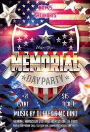 Memorial Day Flyer – Flyer PSD Template + Facebook Cover