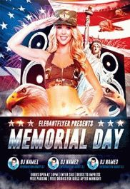 4th Of July USA – Flyer PSD Template + Facebook Cover