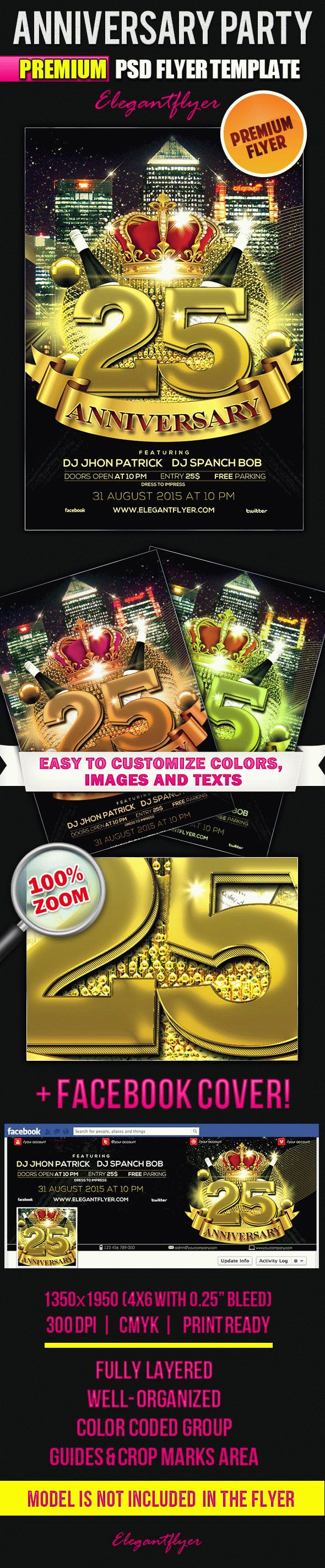 25 Anniversary – Flyer PSD Template – by ElegantFlyer