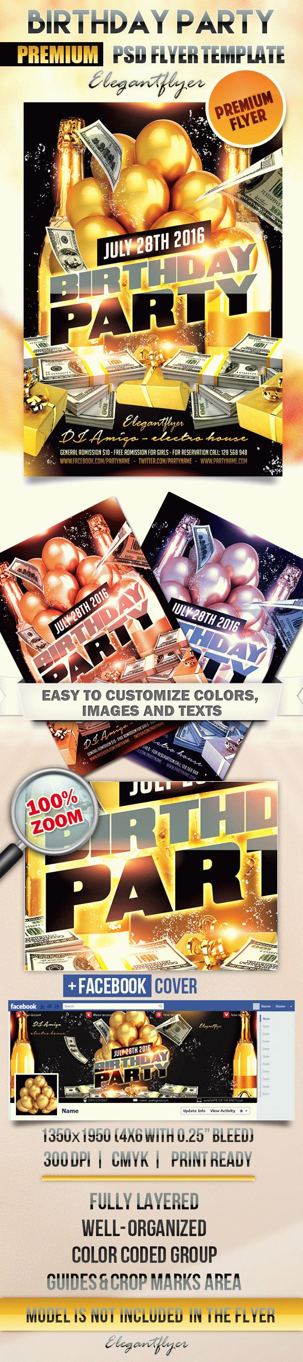Birthday Party 7 – Flyer PSD Template